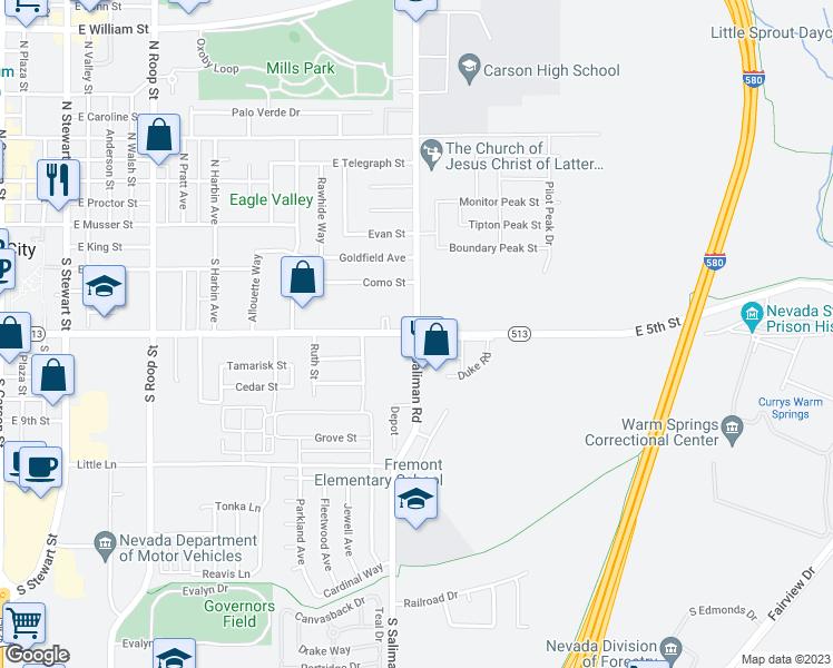 East 5th Street & South Saliman Road, Carson City NV - Walk Score