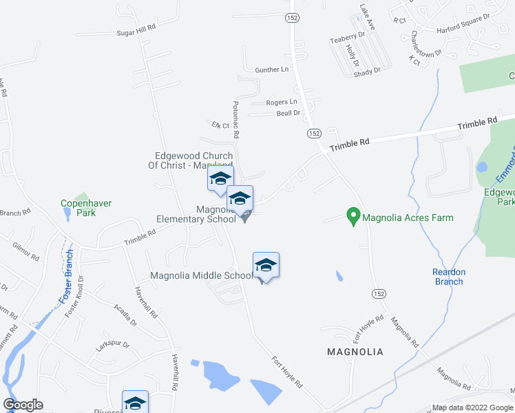 map of restaurants, bars, coffee shops, grocery stores, and more near 1000 Trimble Road in Harford County