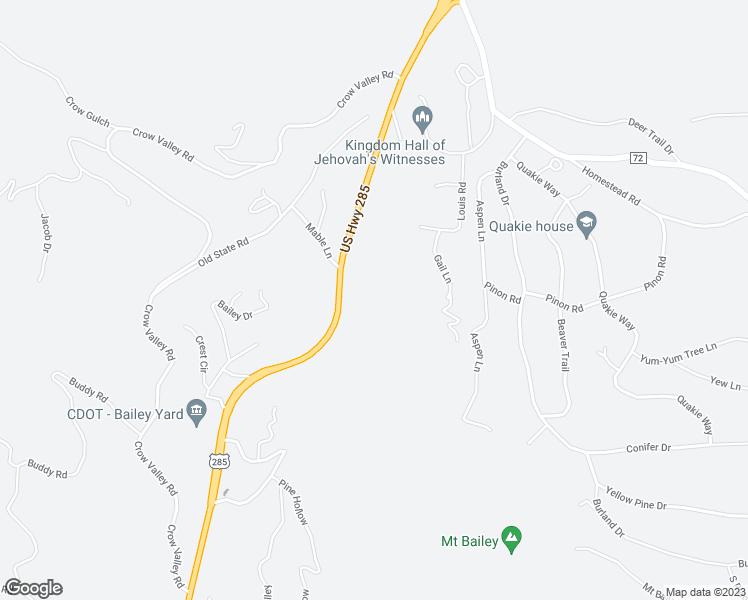 62430 US Highway 285, Bailey CO - Walk Score