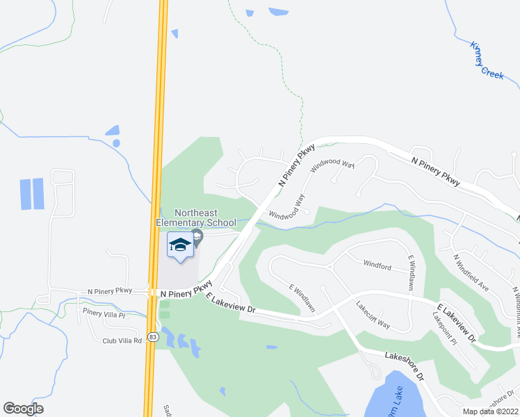 map of restaurants, bars, coffee shops, grocery stores, and more near 8041 Windwood Way in Parker