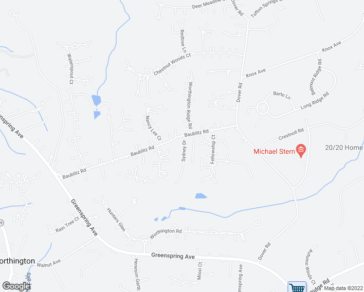 map of restaurants, bars, coffee shops, grocery stores, and more near 12512 Fellowship Court in Reisterstown