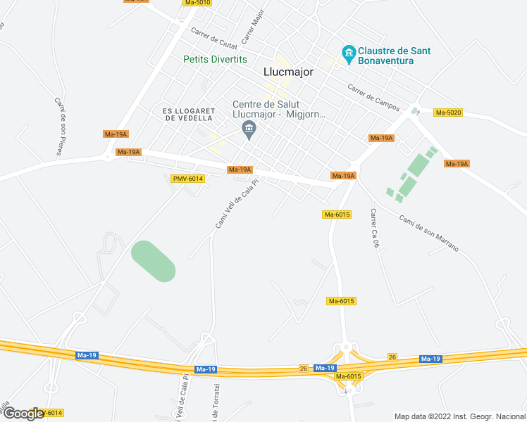 map of restaurants, bars, coffee shops, grocery stores, and more near in Llucmajor