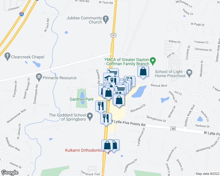 Springboro Ohio Map.776 North Main Street Springboro Oh Walk Score