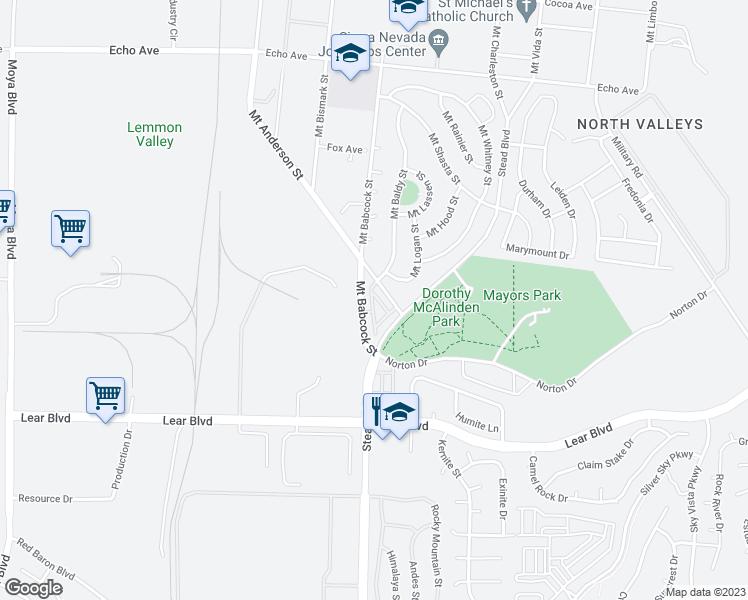 Mount Anderson Street Reno NV Walk Score - Street map of reno nv
