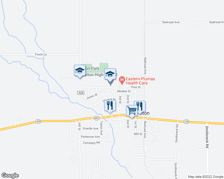 map of restaurants, bars, coffee shops, grocery stores, and more near 611 3rd Street in Loyalton
