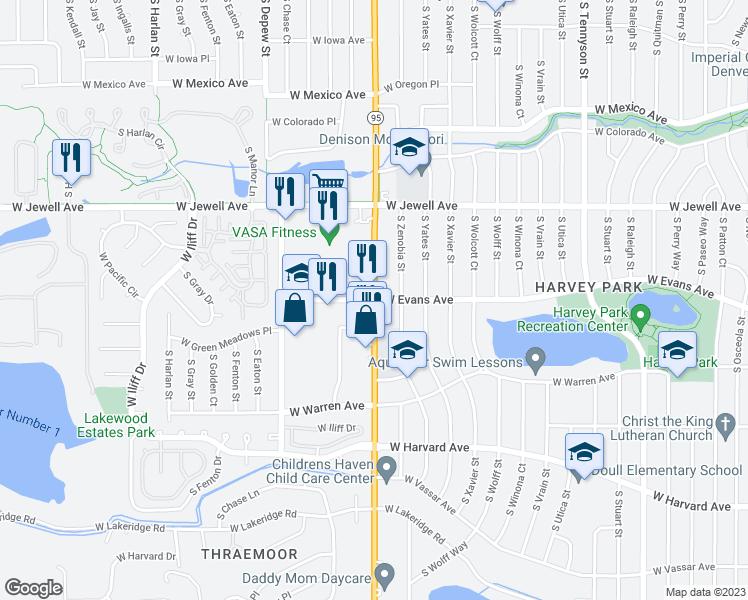 Sheridan Colorado Map.S Sheridan Blvd W Evans Ave Denver Co Walk Score