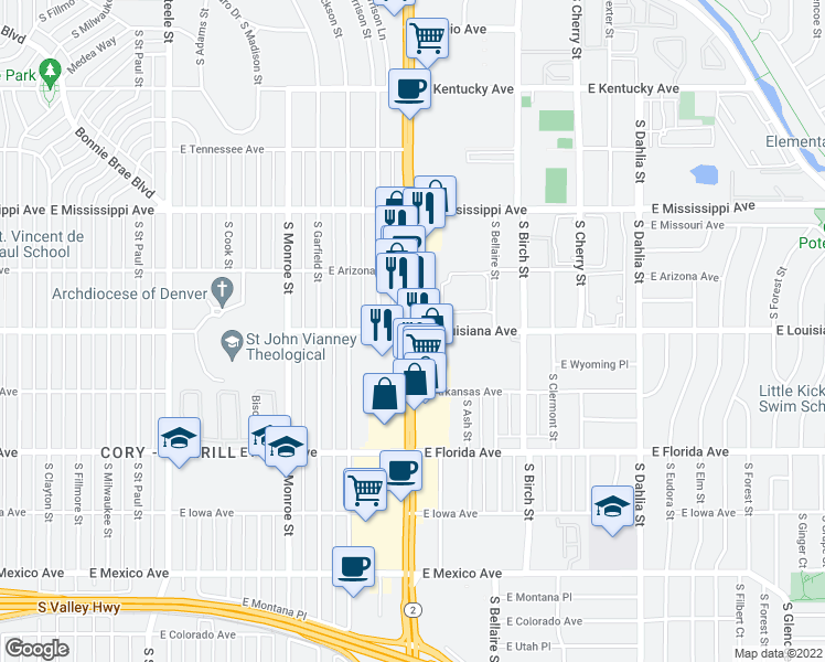 S Colorado Blvd & E Louisiana Ave, Denver CO - Walk Score on map of white, map of staten, map of johnson, map of tucker, map of locust point, map of east bronx, map of polo grounds, map of tryon, map of sylvester, map of weeks bay, map of hephzibah, map of olde town arvada, map of north boulder, map of culbertson, map of parkchester, map of tekamah, map of northern denver, map of thomas county, map of coleman, map of sloan's lake,