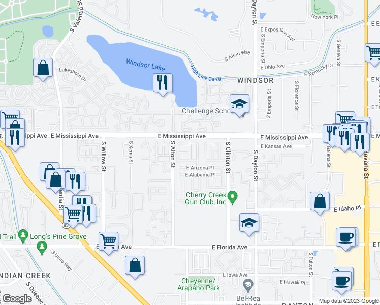 Alton Kansas Map.9769 East Kansas Avenue Denver Co Walk Score