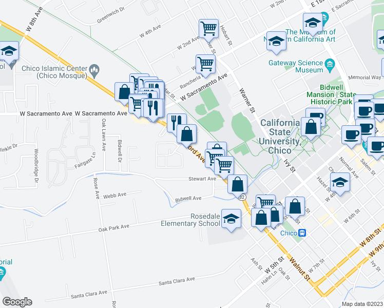 557 Nord Avenue, Chico CA - Walk Score Chico California Map on