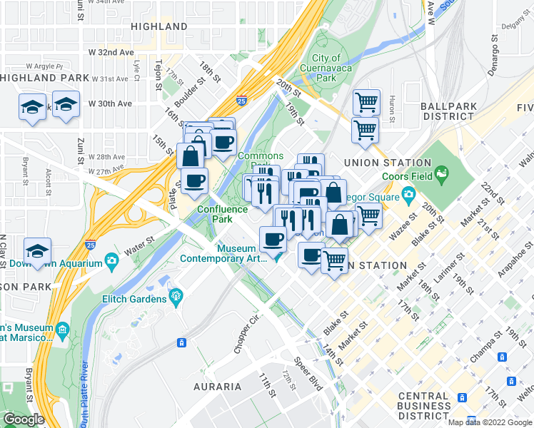 2100 16th Street Mall, Denver CO - Walk Score  Th Street Mall Map on