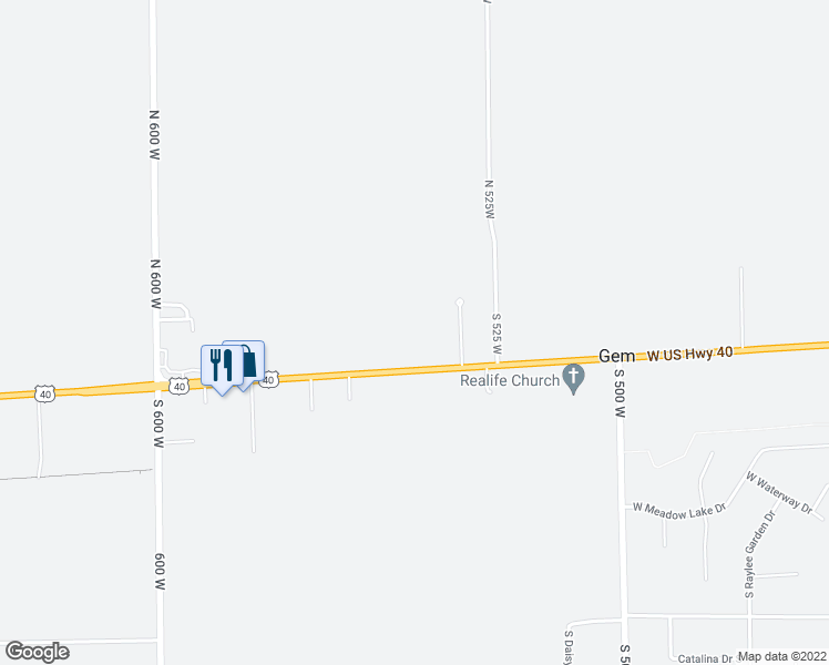 5430 West Us Highway 40 Greenfield In Walk Score - Us-highway-40-map