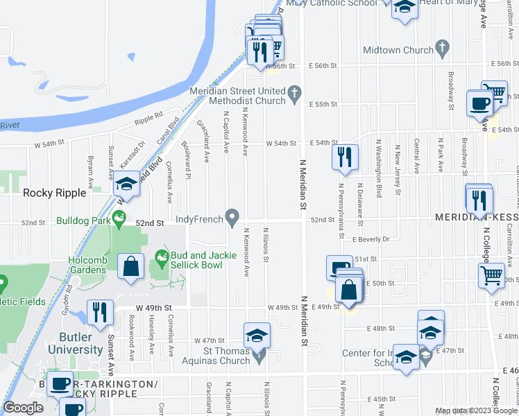 5220 North Illinois Street, Indianapolis IN - Walk Score