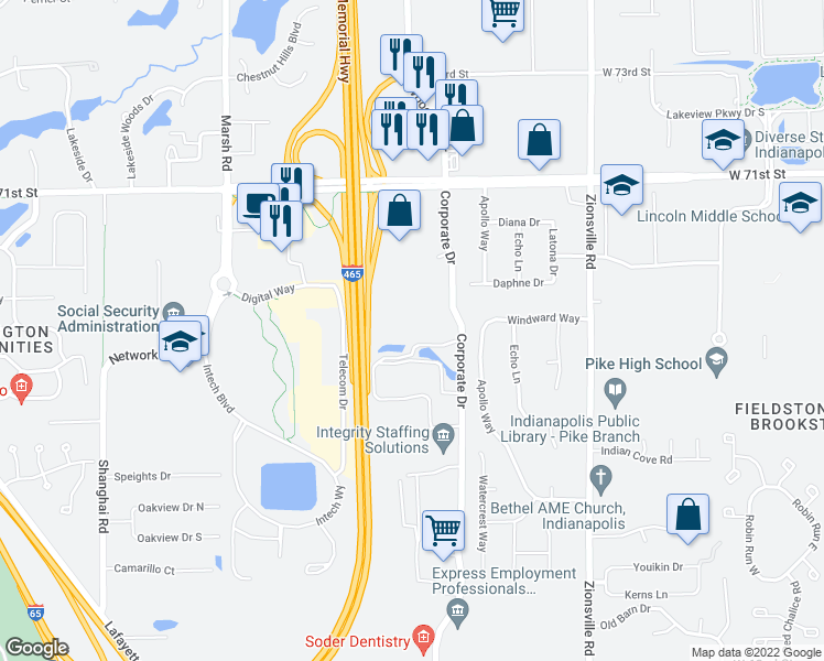 6026 Lakeside Boulevard Indianapolis In Walk Score