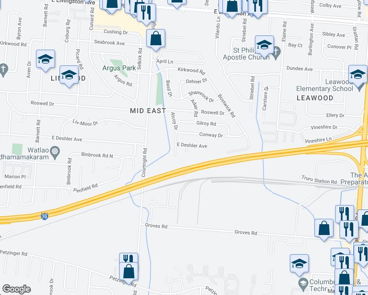 Deshler Ohio Map.3725 East Deshler Avenue Columbus Oh Walk Score