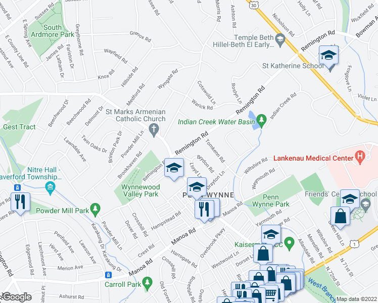 map of restaurants, bars, coffee shops, grocery stores, and more near 254 Lloyd Lane in Wynnewood