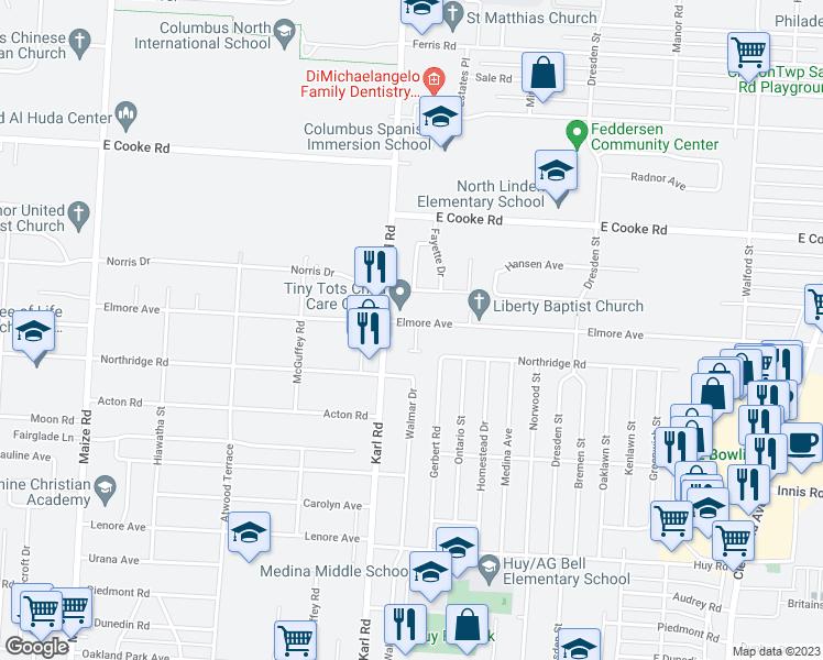 Map Of Restaurants Bars Coffee S Grocery Ore Near 3697