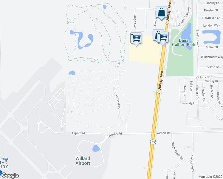 map of restaurants, bars, coffee shops, grocery stores, and more near 805 Hartwell Drive in Savoy