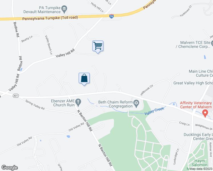 Map Car Parks Malvern