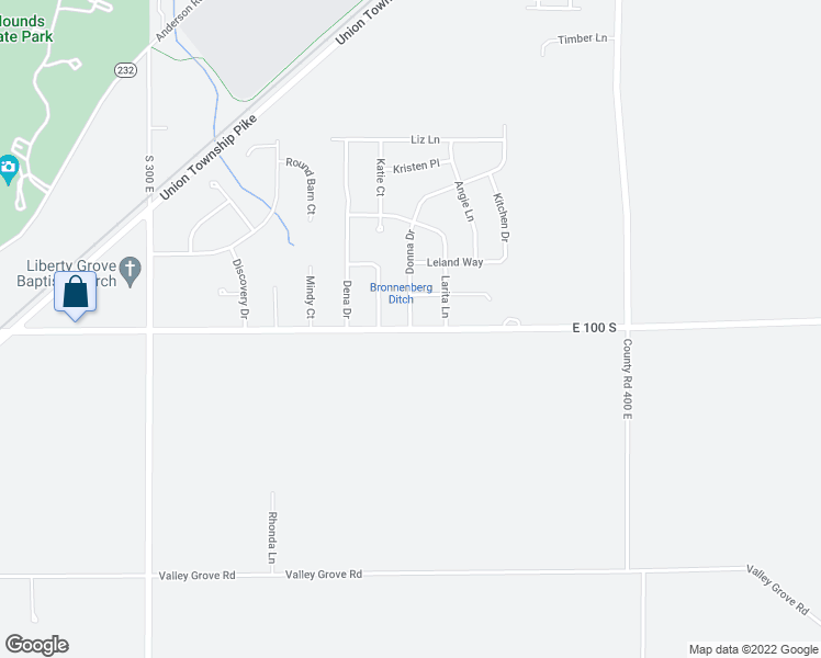 map of restaurants, bars, coffee shops, grocery stores, and more near 2312 Beth Drive in Anderson