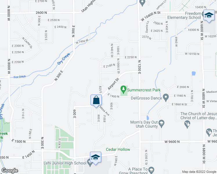 map of restaurants, bars, coffee shops, grocery stores, and more near 830 East 2070 North in Lehi