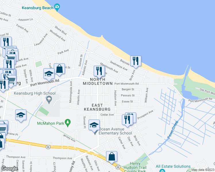 7 shoreland terrace middletown nj walk score for Terrace view map
