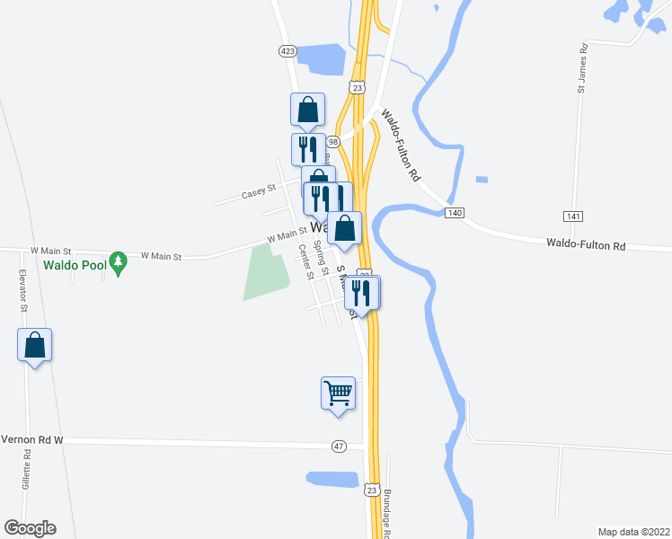 Waldo Ohio Map.179 South Marion Street Waldo Oh Walk Score