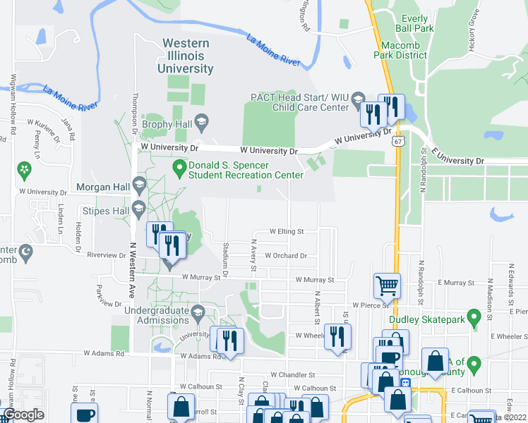 Edison and Pullman Apartments, Macomb IL - Walk Score on wiu quad cities campus, wiu moline campus, wiu campus map, wiu campus recreation,