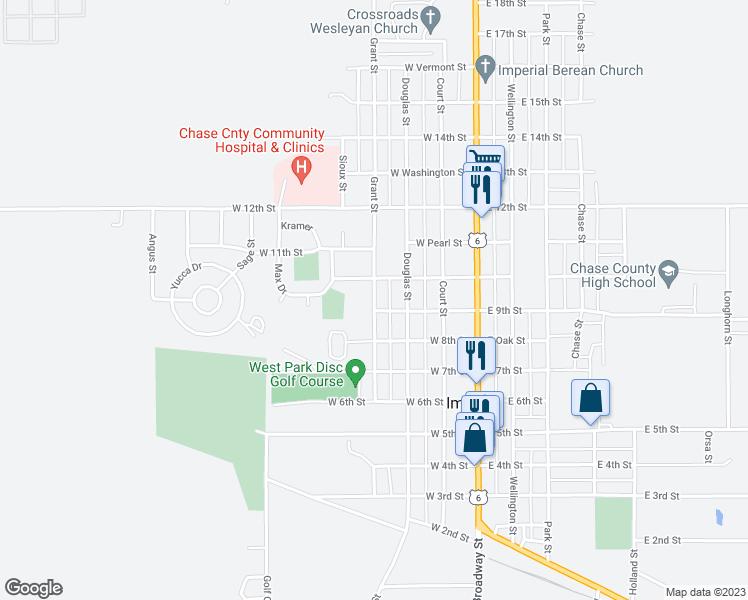 Imperial Nebraska Map.933 Grant Street Imperial Ne Walk Score