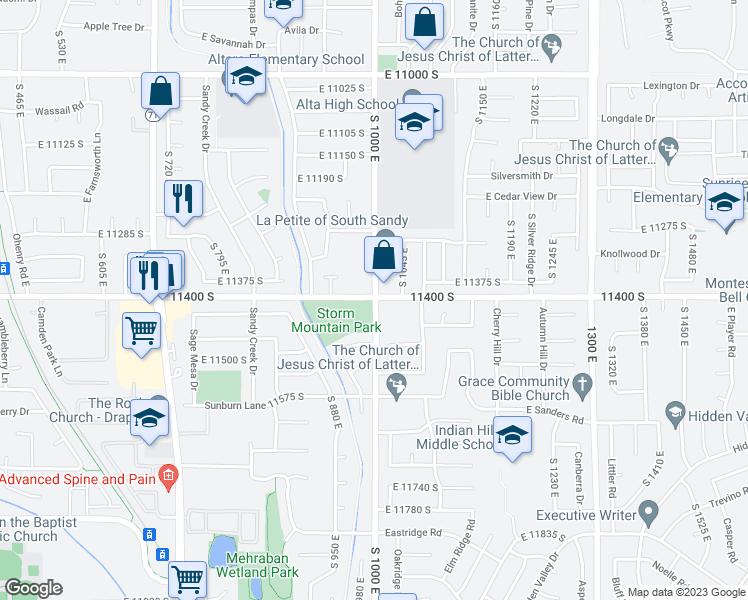 11400 South 1000 East, Sandy UT - Walk Score on summerville sc maps, sandy city street map, sandy oregon maps, spokane wa maps, sandy utah, stockton ca maps, savannah ga maps, springfield il maps,