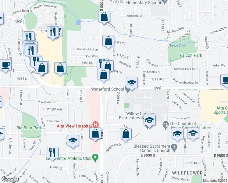 1360 East 9400 South, Sandy UT - Walk Score Sandy Ut Map on summerville sc maps, spokane wa maps, springfield il maps, sandy utah, savannah ga maps, sandy city street map, sandy oregon maps, stockton ca maps,
