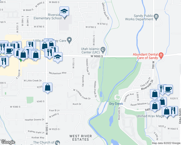9121 hidden peak drive west jordan ut walk score map of restaurants bars coffee shops grocery stores and more near 9121 gumiabroncs Image collections