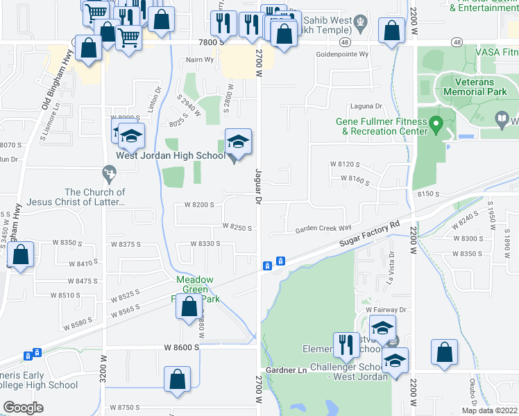8227 jaguar drive west jordan ut walk score map of restaurants bars coffee shops grocery stores and more near 8227 gumiabroncs Image collections