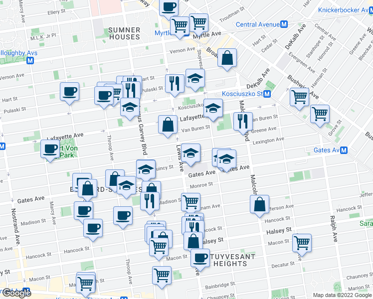 Map Of Restaurants Bars Coffee Shops Grocery Stores And More Near 635