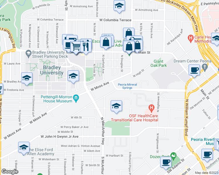 844 west moss avenue peoria il walk score - University gardens apartments peoria il ...