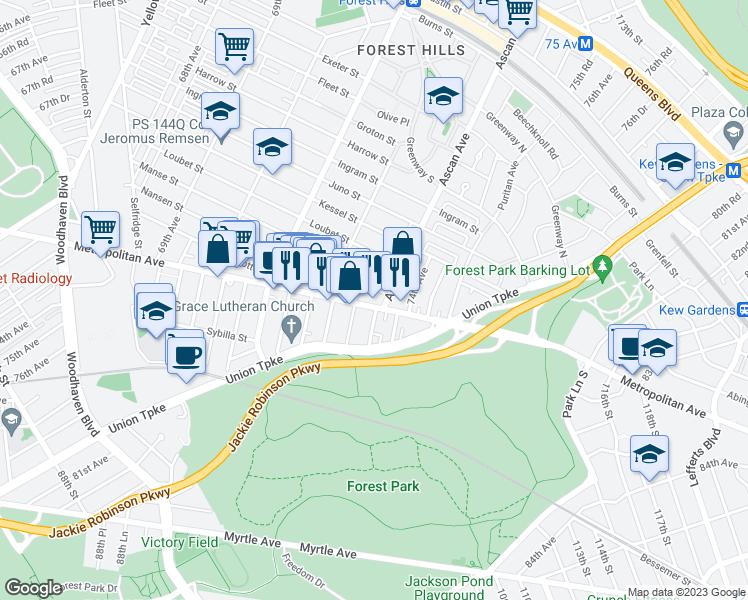 Map Of Restaurants Bars Coffee S Grocery Ore Near 106