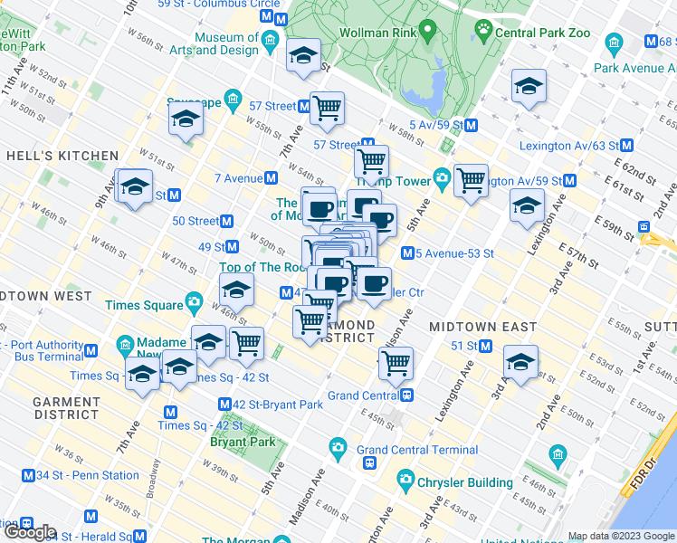 Rockefeller Subway Map.45 Rockefeller Plaza New York Ny Walk Score