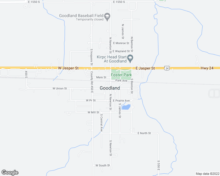 map of restaurants, bars, coffee shops, grocery stores, and more near in Goodland
