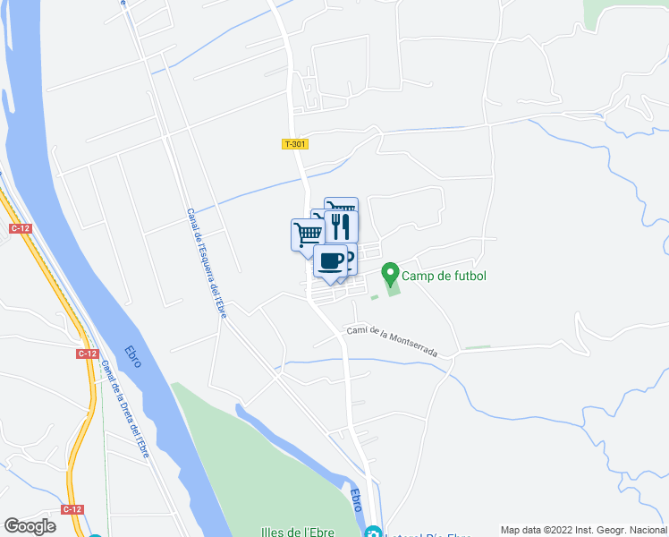 map of restaurants, bars, coffee shops, grocery stores, and more near in Bítem