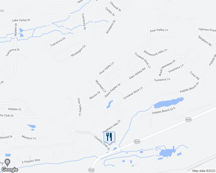 map of restaurants, bars, coffee shops, grocery stores, and more near 30 Winged Foot Drive in Luzerne County