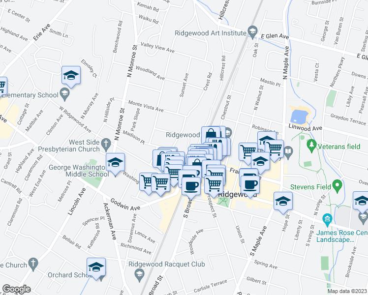 Ridgewood New Jersey Map.40 Ridge Road Ridgewood Nj Walk Score