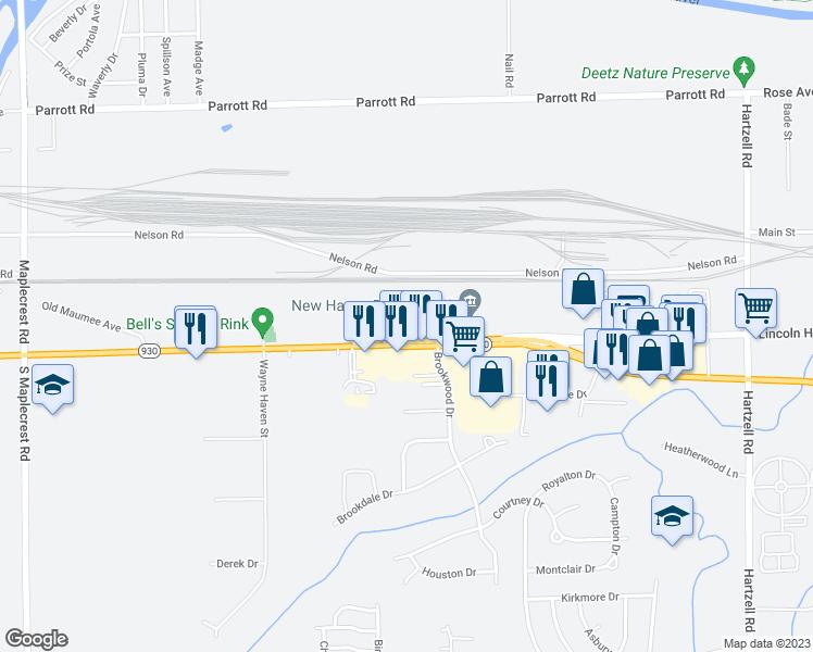 Us Highway East Fort Wayne IN Walk Score - Us highway 30 map