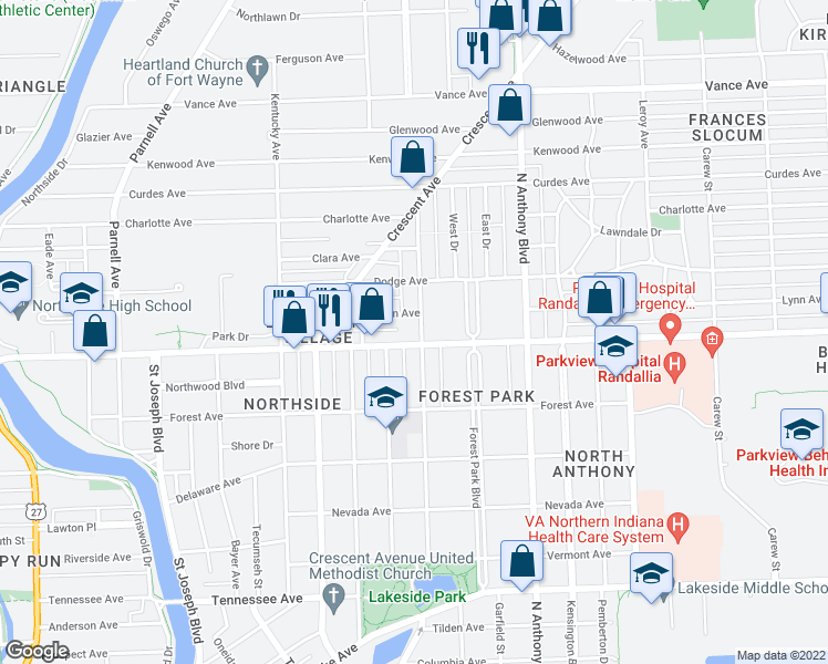 Map Of Restaurants Bars Coffee S Grocery Ore Near 2305
