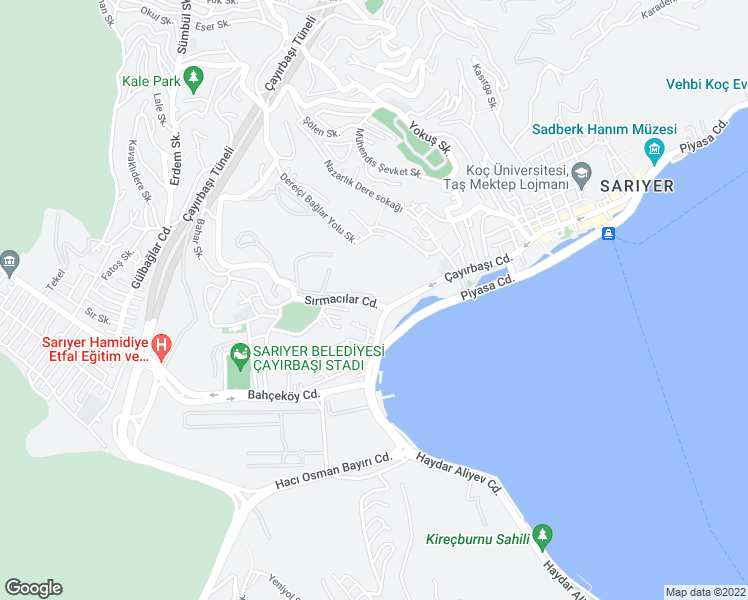 map of restaurants, bars, coffee shops, grocery stores, and more near in Sarıyer
