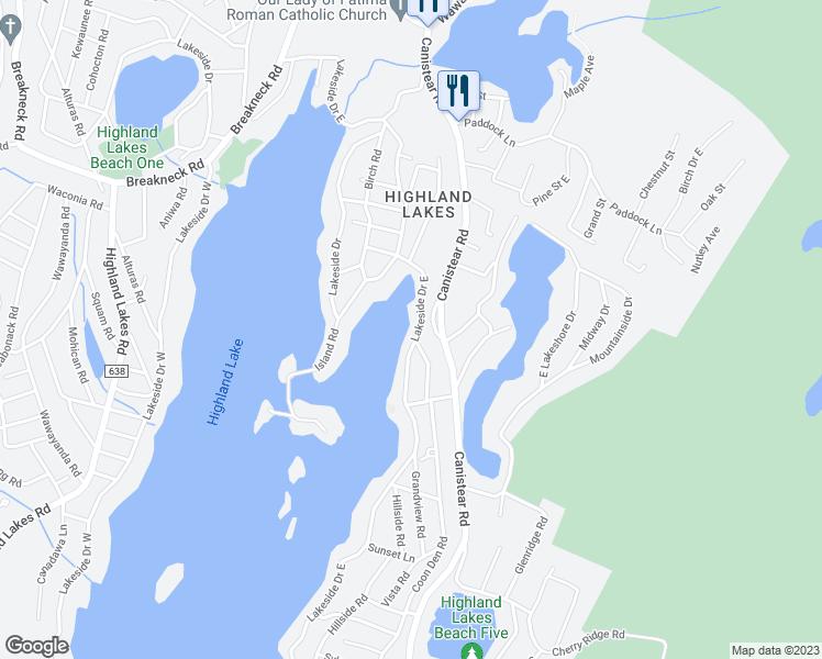 highland lakes nj map 1131 Lakeside Drive East Highland Lakes Nj Walk Score highland lakes nj map