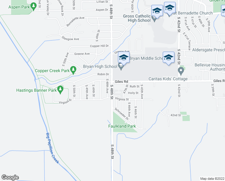 map of restaurants, bars, coffee shops, grocery stores, and more near 4732 Virginia Street in Bellevue