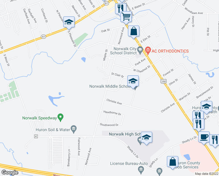 87 norwood avenue norwalk oh walk score map of restaurants bars coffee shops grocery stores and more near 87 sciox Choice Image