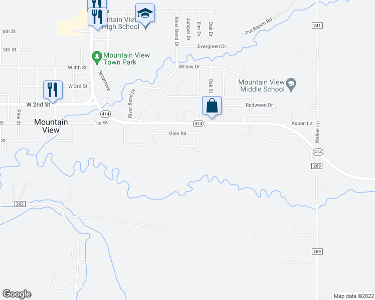 Mountain View Wyoming Map.545 Greg Place Mountain View Wy Walk Score