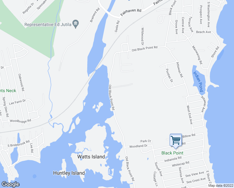 map of restaurants, bars, coffee shops, grocery stores, and more near 92 Old Black Point Road in East Lyme