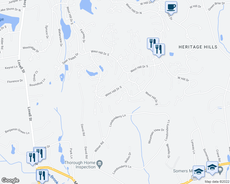 map of restaurants, bars, coffee shops, grocery stores, and more near 551 Heritage Hills in Heritage Hills