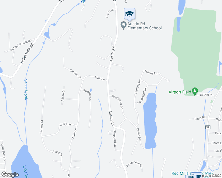 map of restaurants, bars, coffee shops, grocery stores, and more near 294 Austin Road in Mahopac